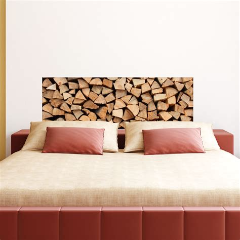 sticker design tas de bois stickers chambre ambiance sticker