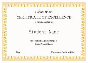 free student excellence award certificate template with With free award certificate templates for students