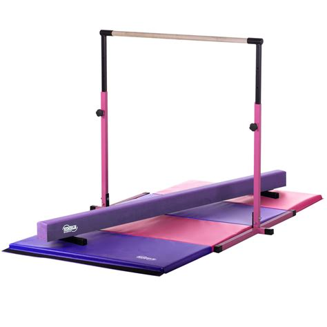 Pink Adjustable Horizontal Bar Purple Balance Beam Pink ...