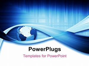 Powerpoint template a globe with a number of bluish lines for Power plugs powerpoint templates