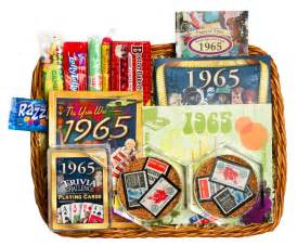 50th wedding anniversary gifts 50th wedding anniversary gift basket with 1965 or 1966 sts