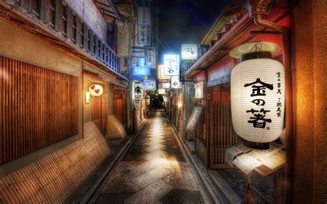 street kyoto  japan  night hd wallpaper