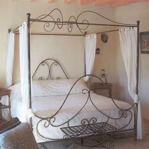 Lit Baldaquin Adulte : lit adulte fer forge maison design ~ Teatrodelosmanantiales.com Idées de Décoration