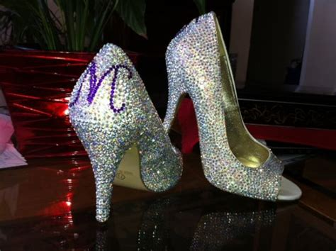 diy crystal wedding shoes weddingbee photo gallery