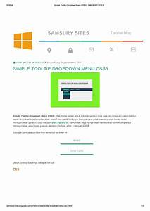 Simple tooltip dropdown menu css3