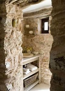 salle de bain pierre et bois une beaute naturelle With salle de bain design avec pierre décorative intérieur pas cher
