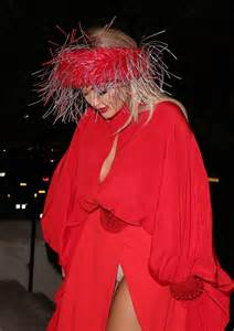 Rita Ora Sexy Tits And Panties In Red Dress Pics The