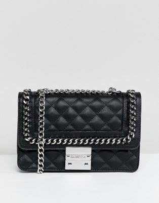 carvela bailey quilted chain shoulder bag asos