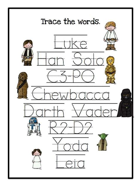 25 best ideas about name tracing worksheets on 347 | c5b996a99dc3e170e96cb27f3f136612 star wars activities kindergarten star wars preschool theme