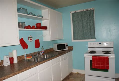 light teal kitchen cabinets coley s corner the kitchen light teal with cherries on
