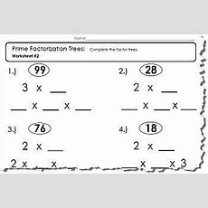 Prime Factor Tree Worksheet 1 Of 5 (pdf And Answers