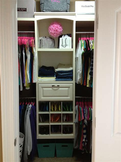 Closet Organization Ideas For Walk In Closets by Small Walk In Closet Organization Girly Closet