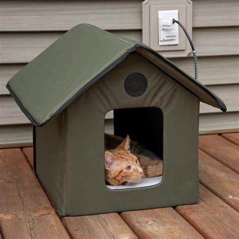 outdoor heated cat house outdoor heated cat house pets warm waterproof kitty