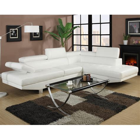 canape cuir blanc canape d 39 angle napoli cuir reconstitue blanc droit