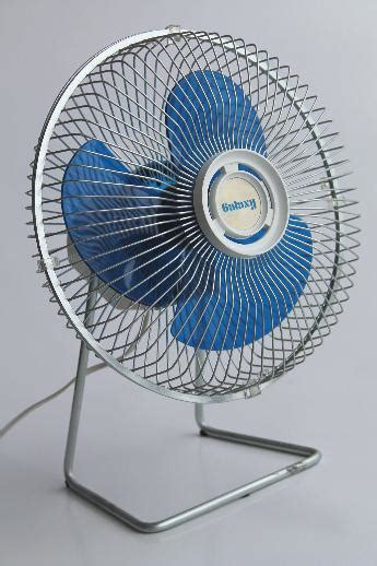 one stop fan shop 80s vintage galaxy fan with blue plastic fan blades retro