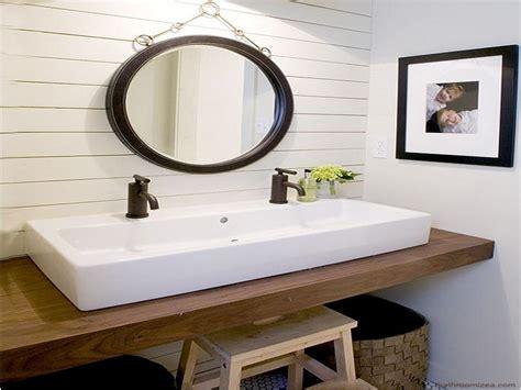 double faucet trough sink shallow bath vanity double faucet trough sink vanity