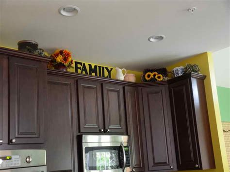 above kitchen cabinet ideas kitchen how to decorate above kitchen cabinets family