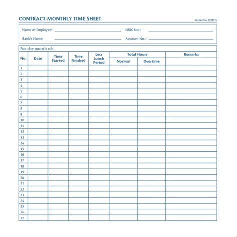 monthly timesheet template 22 sle monthly timesheet templates to for free sle templates