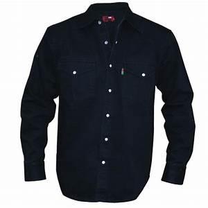 Chemise Jean Noir Homme : chemise jean noir western grande taille homme duke coton qualit ~ Melissatoandfro.com Idées de Décoration