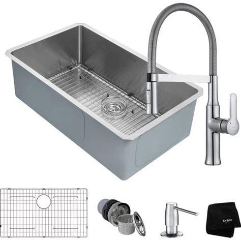 premium kitchen sinks kraus 32 quot undermount single bowl kitchen sink package 1640