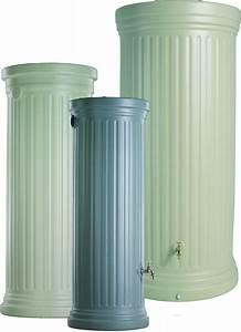Bac Récupérateur D Eau De Pluie : r cup rateur d 39 eau de pluie colonne romaine gris 1000 l ~ Premium-room.com Idées de Décoration