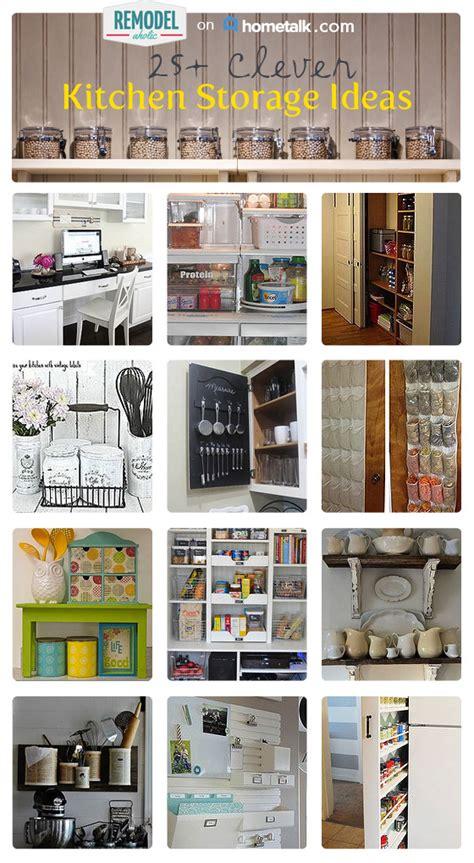 clever storage ideas 25 clever kitchen storage ideas remodelaholic bloglovin