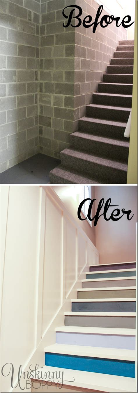 Our Basement Staircase Transformation Reveal! From