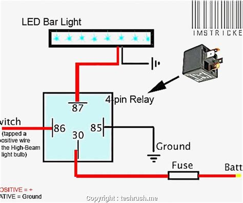 led light bar wiring harness circuit