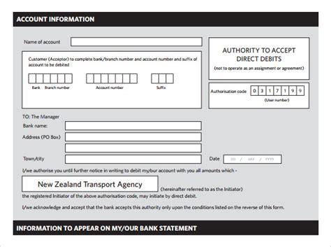 direct debit form    documents   word