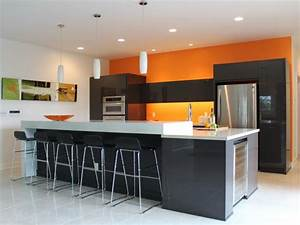 orange paint colors for kitchens pictures ideas from With kitchen colors with white cabinets with tiki wall art