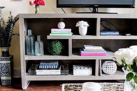 How To Style Your TV Stand or Console Table - Pretty in