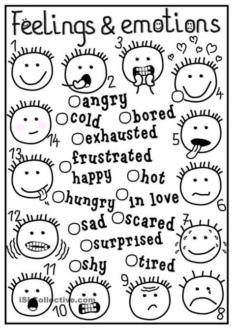 feelings emotions coloring pages emotional adjectives 456 | 336ba4cf617e320bd88dc93dbbe7d96e