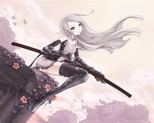 Image - Anime-girl-with-sword-and-silver-hair-hd-anime ...