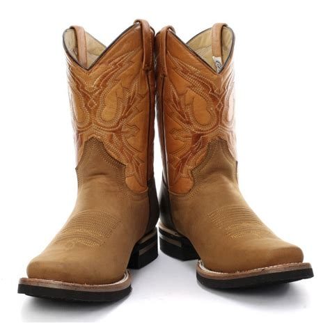 grinders el paso cowboy boot tan brown
