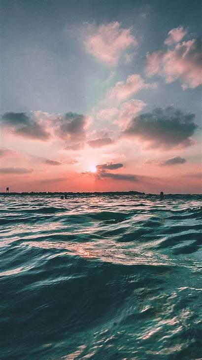 Ocean Sea Sunset Sky Nature Summer Water