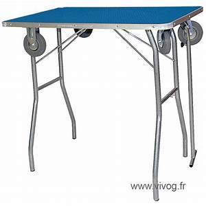 Table Pliante CLASIQUE Avec Roulettes 90x55x85cm