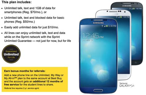 sprint and best buy team up to offer students one year of