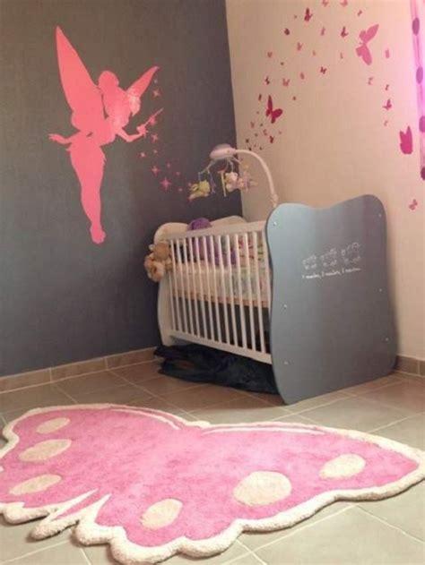chambre bébé fille moderne décoration chambre bébé fille papillon