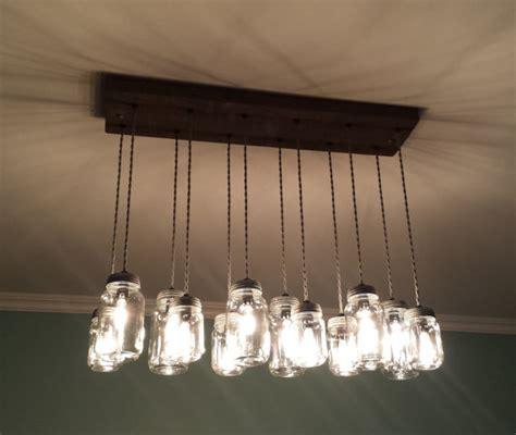 diy jar chandelier 12 light diy jar chandelier rustic cedar rustic wood