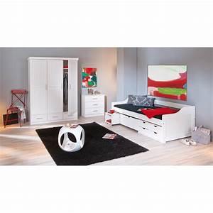 Lit Banquette Blanc : lit banquette 90x200cm hugo blanc ~ Teatrodelosmanantiales.com Idées de Décoration