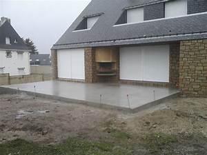 incroyable dalle beton autour piscine 12 terrasse beton With construire une dalle beton exterieur