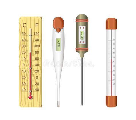 Hot And Cold Cartoon Thermometers Stock Vector ...