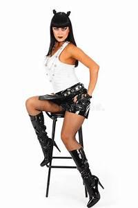 Heavy metal girl stock photo. Image of caucasian, female ...