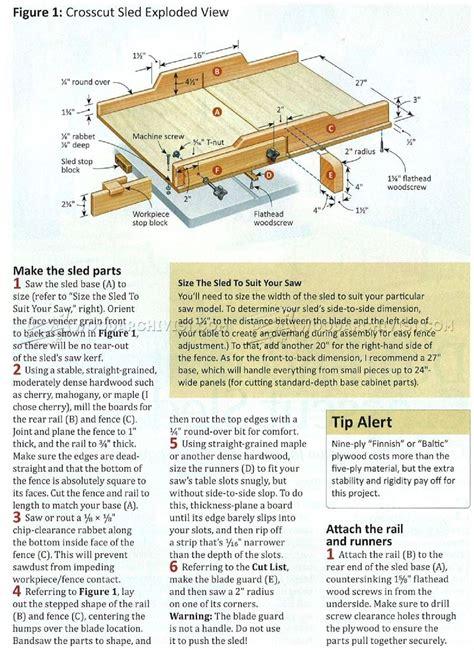 table  crosscut sled plans woodarchivist