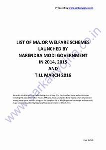 Complete List of Schemes Launched by Narendra Modi Government