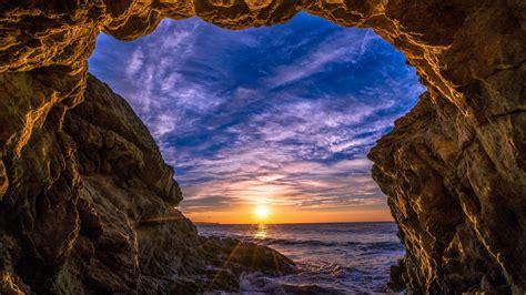 wallpaper malibu california sunset beach ocean coast