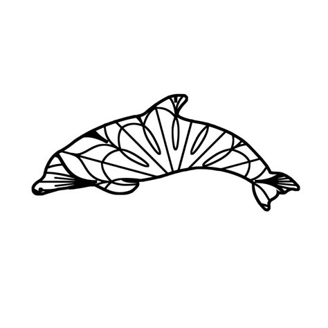 Ethnic dolphin svg, dolphin clipart png included, for personal & commercial use. Dolphin Mandala - Dolphin Mandala Svg | Mandala svg, Mandala