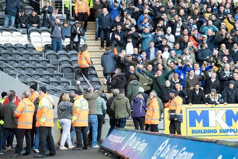 Scuffles break out as Leeds United fans 'paraded' after ...