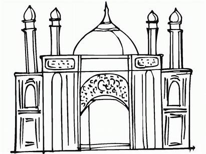 Coloring Ramadan Pages Printable Mosque Masjid Colouring
