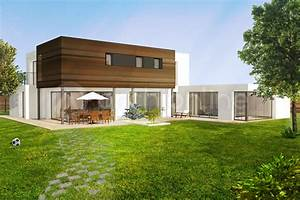 modele maison moderne modele de maison toit terrasse With amazing plan de belle maison 10 de maison contemporaine achat